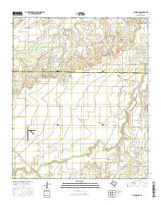 Lueders NW Texas Current topographic map, 1:24000 scale, 7.5 X 7.5 Minute, Year 2016