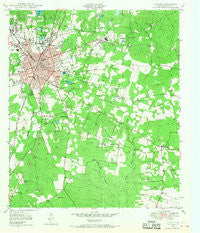 Lufkin Texas Historical topographic map, 1:24000 scale, 7.5 X 7.5 Minute, Year 1949