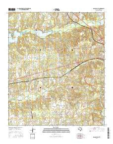 Mallard Hill Texas Current topographic map, 1:24000 scale, 7.5 X 7.5 Minute, Year 2016