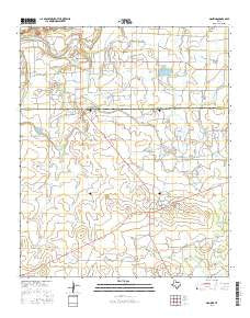 Mankins Texas Current topographic map, 1:24000 scale, 7.5 X 7.5 Minute, Year 2016