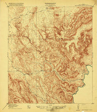 Maravillas Canyon Texas Historical topographic map, 1:62500 scale, 15 X 15 Minute, Year 1919