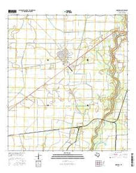 Markham Texas Current topographic map, 1:24000 scale, 7.5 X 7.5 Minute, Year 2016