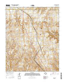 Marsh Texas Current topographic map, 1:24000 scale, 7.5 X 7.5 Minute, Year 2016