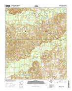 Marshall NW Texas Current topographic map, 1:24000 scale, 7.5 X 7.5 Minute, Year 2016 from Texas Map Store