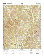 Marshall West Texas Current topographic map, 1:24000 scale, 7.5 X 7.5 Minute, Year 2016 from Texas Map Store