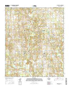 Martins Mill Texas Current topographic map, 1:24000 scale, 7.5 X 7.5 Minute, Year 2016
