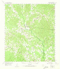Martinsville Texas Historical topographic map, 1:62500 scale, 15 X 15 Minute, Year 1958