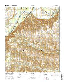 Marysville Texas Current topographic map, 1:24000 scale, 7.5 X 7.5 Minute, Year 2016