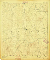 Mason Texas Historical topographic map, 1:125000 scale, 30 X 30 Minute, Year 1887