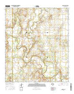 Maverick Texas Current topographic map, 1:24000 scale, 7.5 X 7.5 Minute, Year 2016 from Texas Map Store