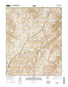 McBride Texas Current topographic map, 1:24000 scale, 7.5 X 7.5 Minute, Year 2016