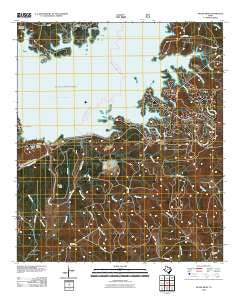 McGee Bend Texas Historical topographic map, 1:24000 scale, 7.5 X 7.5 Minute, Year 2010