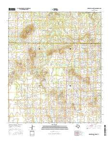 McKenzie Mountains Texas Current topographic map, 1:24000 scale, 7.5 X 7.5 Minute, Year 2016