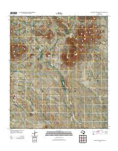 McKinney Mountain Texas Historical topographic map, 1:24000 scale, 7.5 X 7.5 Minute, Year 2012