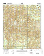 McLeod Texas Current topographic map, 1:24000 scale, 7.5 X 7.5 Minute, Year 2016 from Texas Map Store
