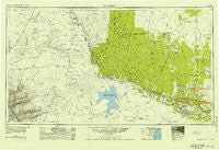 Mc Allen Texas Historical topographic map, 1:250000 scale, 1 X 2 Degree, Year 1949