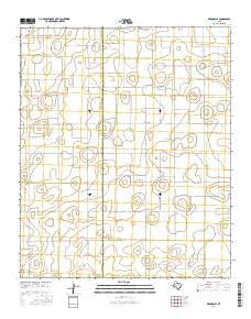 Meadow SE Texas Current topographic map, 1:24000 scale, 7.5 X 7.5 Minute, Year 2016