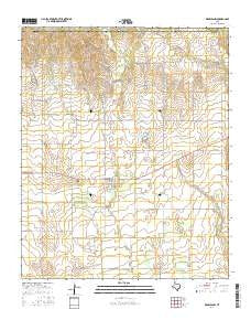 Memphis NW Texas Current topographic map, 1:24000 scale, 7.5 X 7.5 Minute, Year 2016