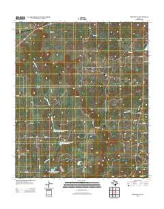 Mercers Gap Texas Historical topographic map, 1:24000 scale, 7.5 X 7.5 Minute, Year 2012