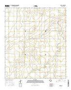 Mereta Texas Current topographic map, 1:24000 scale, 7.5 X 7.5 Minute, Year 2016 from Texas Map Store