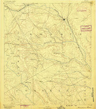 Meridian Texas Historical topographic map, 1:125000 scale, 30 X 30 Minute, Year 1888