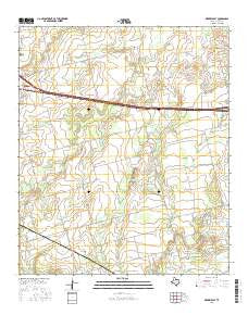 Merkel East Texas Current topographic map, 1:24000 scale, 7.5 X 7.5 Minute, Year 2016
