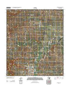 Mertzon Texas Historical topographic map, 1:24000 scale, 7.5 X 7.5 Minute, Year 2013