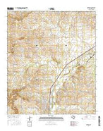 Mertzon Texas Current topographic map, 1:24000 scale, 7.5 X 7.5 Minute, Year 2016 from Texas Map Store
