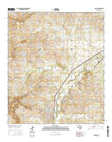 Mertzon Texas Current topographic map, 1:24000 scale, 7.5 X 7.5 Minute, Year 2016