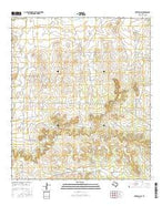 Mertzon SW Texas Current topographic map, 1:24000 scale, 7.5 X 7.5 Minute, Year 2016 from Texas Map Store