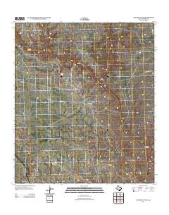 Meyers Canyon Texas Historical topographic map, 1:24000 scale, 7.5 X 7.5 Minute, Year 2012