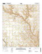 Meyers Canyon Texas Current topographic map, 1:24000 scale, 7.5 X 7.5 Minute, Year 2016 from Texas Map Store