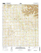 Meyers Canyon NE Texas Current topographic map, 1:24000 scale, 7.5 X 7.5 Minute, Year 2016 from Texas Map Store
