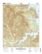 Milam Texas Current topographic map, 1:24000 scale, 7.5 X 7.5 Minute, Year 2016 from Texas Map Store
