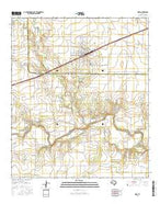 Miles Texas Current topographic map, 1:24000 scale, 7.5 X 7.5 Minute, Year 2016 from Texas Map Store