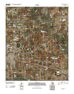 Mineola Texas Historical topographic map, 1:24000 scale, 7.5 X 7.5 Minute, Year 2010