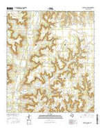Mitchell Canyon Texas Current topographic map, 1:24000 scale, 7.5 X 7.5 Minute, Year 2016 from Texas Map Store