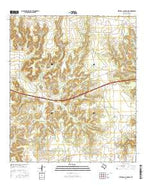 Mitchell Canyon NE Texas Current topographic map, 1:24000 scale, 7.5 X 7.5 Minute, Year 2016 from Texas Map Store