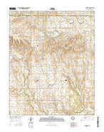 Mobeetie Texas Current topographic map, 1:24000 scale, 7.5 X 7.5 Minute, Year 2016 from Texas Map Store