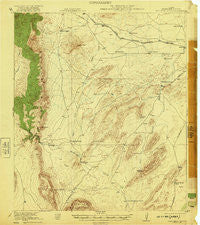 Monument Spring Texas Historical topographic map, 1:62500 scale, 15 X 15 Minute, Year 1921
