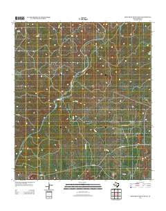 Monument Mountain SE Texas Historical topographic map, 1:24000 scale, 7.5 X 7.5 Minute, Year 2012