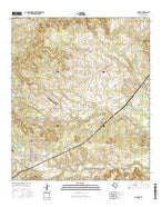 Morgan Texas Current topographic map, 1:24000 scale, 7.5 X 7.5 Minute, Year 2016 from Texas Map Store