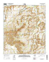 Moss Creek Lake Texas Current topographic map, 1:24000 scale, 7.5 X 7.5 Minute, Year 2016