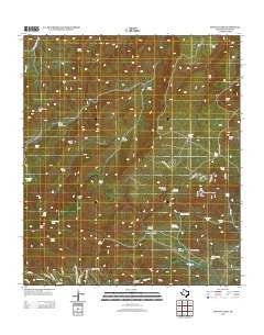 Mount Locke Texas Historical topographic map, 1:24000 scale, 7.5 X 7.5 Minute, Year 2012