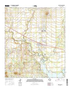 Mount Nebo Texas Current topographic map, 1:24000 scale, 7.5 X 7.5 Minute, Year 2016