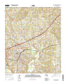 Mount Pleasant Texas Current topographic map, 1:24000 scale, 7.5 X 7.5 Minute, Year 2016