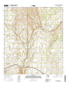 Mud Creek North Texas Current topographic map, 1:24000 scale, 7.5 X 7.5 Minute, Year 2016