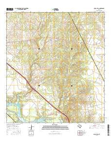 Mulos Hills Texas Current topographic map, 1:24000 scale, 7.5 X 7.5 Minute, Year 2016
