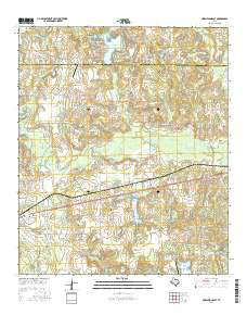 Murchison East Texas Current topographic map, 1:24000 scale, 7.5 X 7.5 Minute, Year 2016