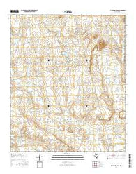Mushaway Peak Texas Current topographic map, 1:24000 scale, 7.5 X 7.5 Minute, Year 2016